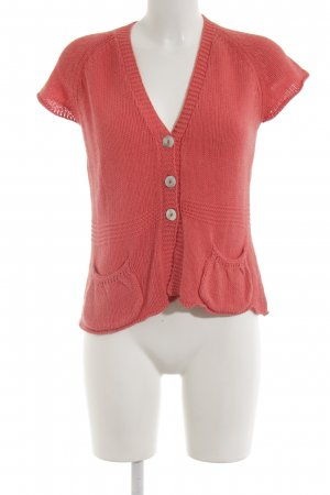 Paul & Joe Sister Short Sleeve Knitted Jacket salmon casual look