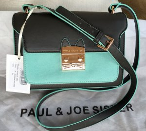 Paul & Joe Sister Mini Bag black-turquoise imitation leather