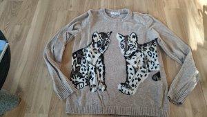 Paul & Joe Sister Pulli Pullover Knit Kaschmir Strick Wolle Leopard Leo 2 - NP 150 Euro