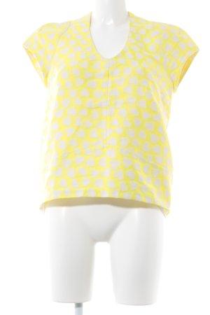 Paul & Joe Sister T-Shirt neongelb-weiß Herzmuster