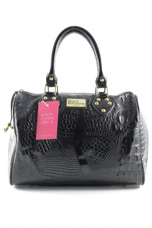 Paul's Boutique Bolso barrel negro estampado de reptil