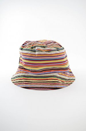 Paul Smith Cappello a falde larghe multicolore Nylon