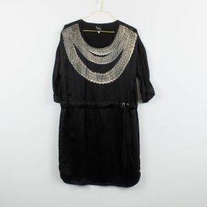 Paul Smith T-shirt jurk zwart-beige Zijde