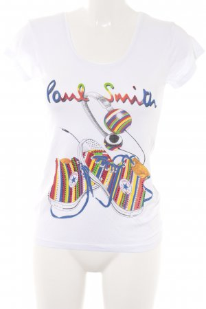 Paul Smith T-Shirt abstrakter Druck Street-Fashion-Look