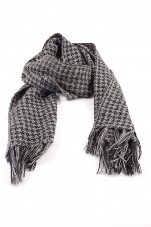 Paul Smith Woolen Scarf light grey-black graphic pattern casual look