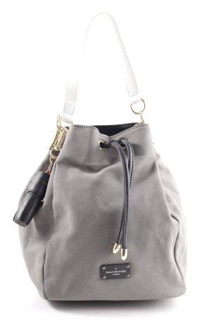 Pauls Boutique Beuteltasche grau-weiß Casual-Look