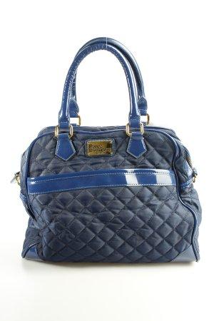 Pauls Boutique Handtasche dunkelblau Steppmuster Materialmix-Look