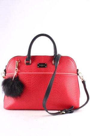 Pauls Boutique Handbag dark red-black reptile print