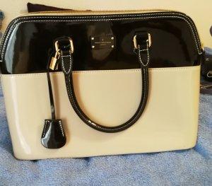 Pauls Boutique Handtasche nude creme schwarz lack Designer