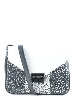 Pauls Boutique Umhängetasche weiß-schwarz abstrakter Druck Street-Fashion-Look