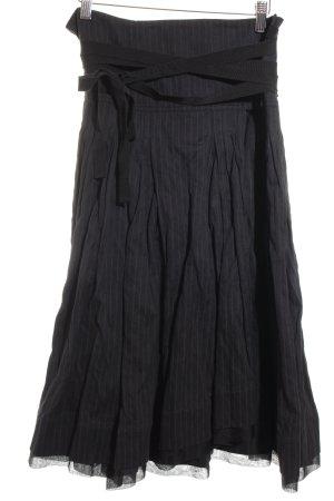 PAUW Asymmetrie-Rock schwarz-weiß Street-Fashion-Look