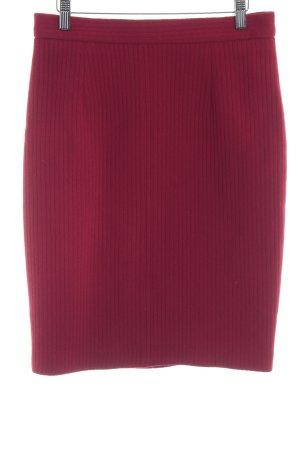 PAUW Gonna di lana rosso scuro stile casual