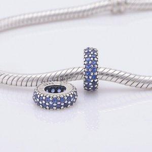 Pave Zwischenelement Pandora Charm Blau