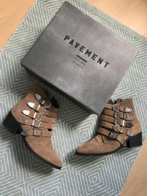Pavement Boots Ankles Booties Ankleboots Wildleder Suede Schnallen 40