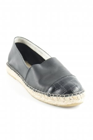 Pavement Espadrille sandalen zwart klassieke stijl