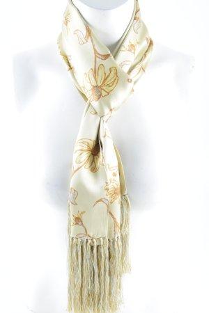 Pazuki London Zijden sjaal bloemenprint Franje afwerking