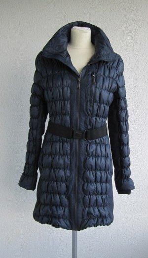 Abrigo de plumón azul oscuro poliamida