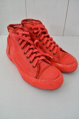Pdo 1 Pantofola D'oro Damen Sneaker Canvas Rot Knöchelhoch Schnürung Gr.40