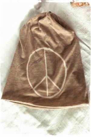 Peace Beanie weich bequem öko jersey