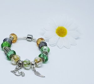 Charm Bracelet multicolored stainless steel