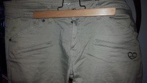 Peace n Love Pantalon cargo gris vert-kaki coton