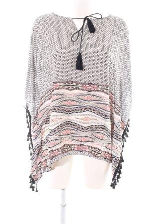 Peace n Love Blusa de túnica estampado con diseño abstracto look casual