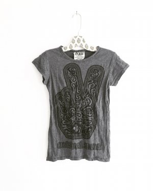 peace shirt / t-shirt / grau / boho / hippie / ethno / sure