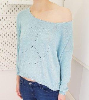 Aust Kraagloze sweater lichtblauw