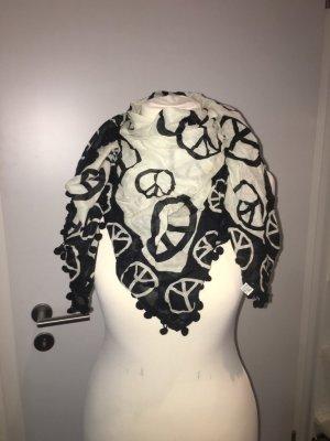 Pañoleta blanco-negro Algodón