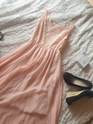 High Low Dress nude