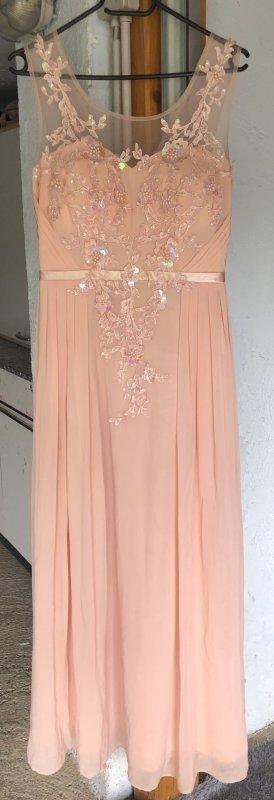 Abito da ballo albicocca-rosa chiaro