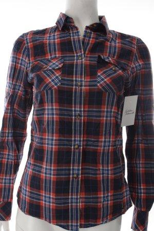 Peak performance Camisa de leñador rojo-azul oscuro estampado a cuadros