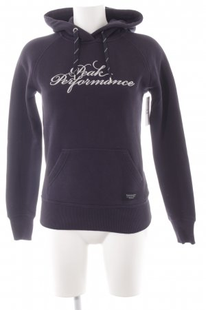 Peak performance Kapuzenpullover dunkelblau Casual-Look