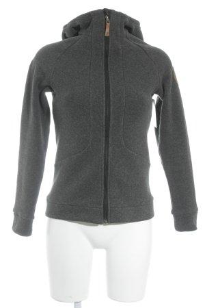 Peak performance Kapuzenpullover grau-schwarz meliert sportlicher Stil