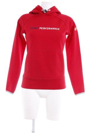 Peak performance Kapuzensweatshirt dunkelrot sportlicher Stil