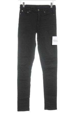 Peak performance Skinny Jeans schwarz-silberfarben schlichter Stil