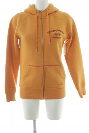 Peak performance Sweatjacke hellorange sportlicher Stil