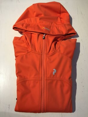 PeakPerformance Jacke Softshelljacke S 36/38 orange mit Kapuze wie neu