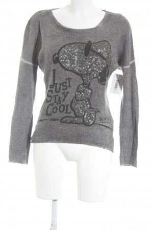 Peanuts Strickpullover taupe Motivdruck Casual-Look