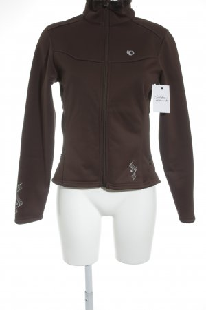 Pearl izumi Softshell Jacket brown-light grey printed lettering athletic style
