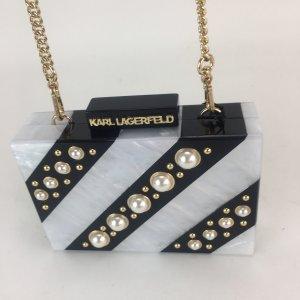 Karl Lagerfeld Borsa clutch bianco-nero