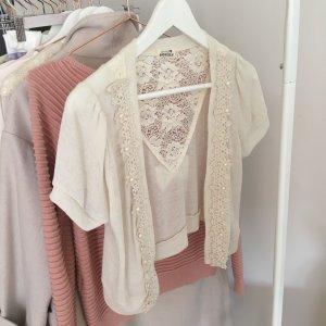 Molly bracken Short Sleeve Knitted Jacket multicolored