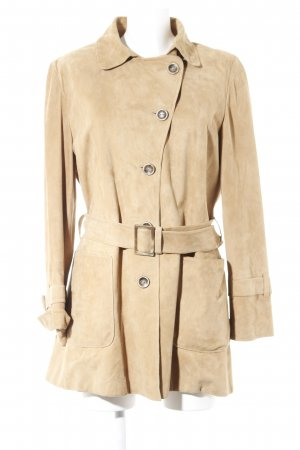 Pearls Lederjacke beige Casual-Look