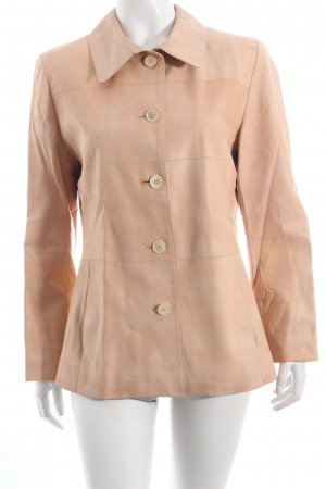 Pearls Leather Jacket pink nude look