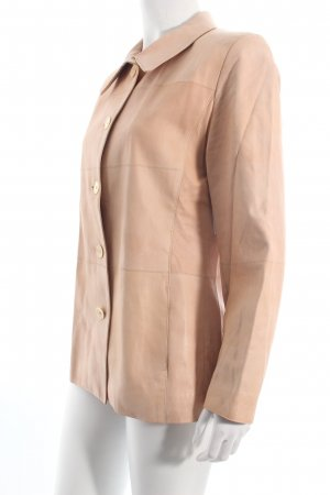 Pearls Giacca in pelle rosa pallido nude look