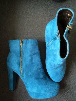 Pearlz Ankle Boots in hellblau/türkis