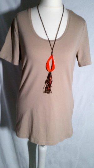 Peckott Basic T-Shirt M 40 Nougat Braun