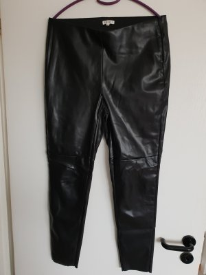 Peckott Hose/Lederhose/Damenhose in Lederoptik/Hose/schwarze Hose