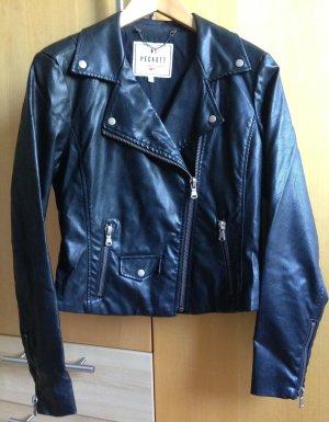 Peckott Lederjacke schwarz Größe M