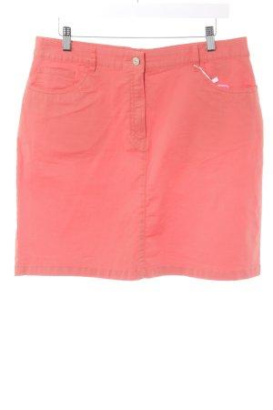 Peckott Mini-jupe orange style décontracté